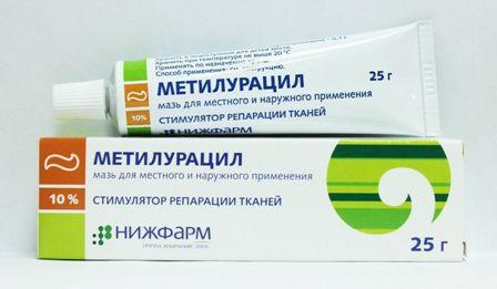 метилурацил мазь от геморроя