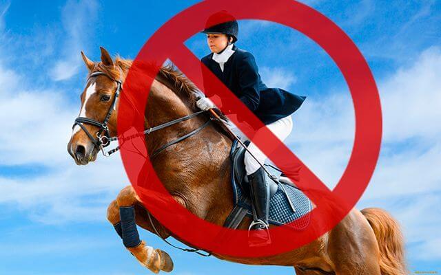 Конный спорт под запретом при геморрое