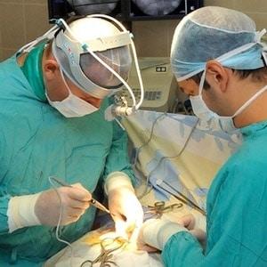 Операция с лазером