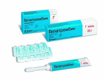 Левомеколь и гепатромбин г при геморрое
